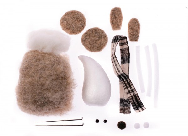 Filz-Creativ-Set Nasenbär