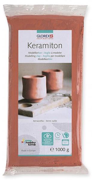 Keramiton, terracotta 1kg Modellierton Modelliermasse