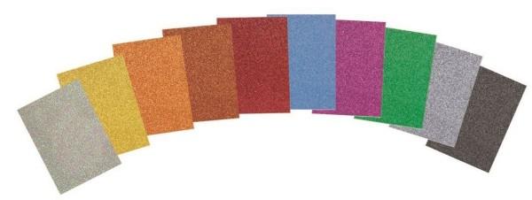 Glitterkarton 280g/m² 10 Stück 21x30cm