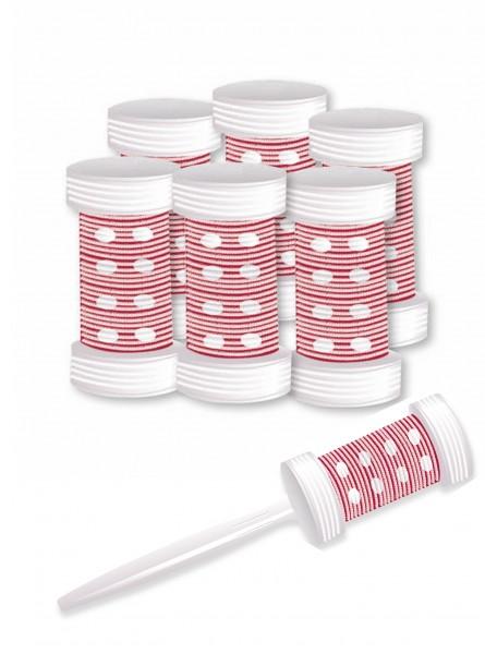Ceramic Bürstenwickler 6 Haar-Wickler mit Griff Lockenwickler für trockene Haare